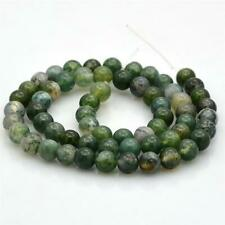 Premium Quality Green Moss Agate Round GEMSTONE Beads 8mm 25 Beads Gs28