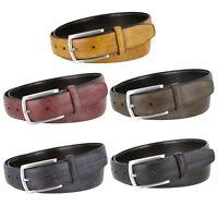 """Men's Designer Office Casual Dress Belt Genuine Leather Belt 1-1/8"""" Wide"""