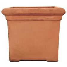 51cm Terracini Baytree Square/Tub/Box/Cube/Garden Planter/Terracotta Pot