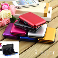 Aluminium Alloy Wallet Credit Card Holder RFID Blocking Waterproof Purse