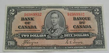 1937 CANADA BANKNOTE 2 DOLLARS BANK OF CANADA AU SUPERB BC - 22C  ER6989932