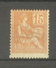 "FRANCE STAMP TIMBRE N°117 ""MOUCHON 15c VARIETE PLUS GRAND QUE NORMAL"" NEUFxx TTB"