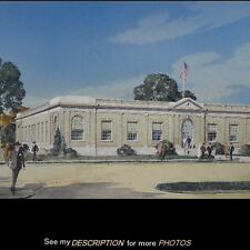 1940's The American Tobacco Company Research Laboratory Illustration Painting