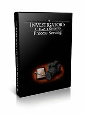 Process Server Tricks & Training DVDs. Private Investigator Course / Skiptracing