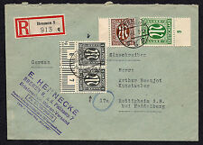 OPC 1946 Germany Allied Issues Bremen to Heidelberg Registered