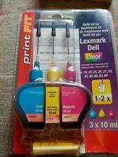 PRINT FIT Ink Refill Kit Lexmark Dell printer cartridges Z P Series - Color
