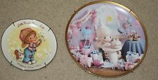 Precious Moments & Avon Plates: Make your every wish.& Little Things Mean A lot