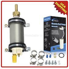 High Pressure Electric External Inline MSD 2225 Fuel Pump Module w/ install Kit