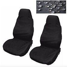 Car Seat Covers Waterproof Nylon Front 2 Protectors Black fits Skoda All Models