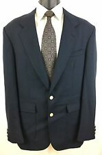 Stafford Navy Blue Gold Buttons Sport Coat Blazer Jacket Size 40L