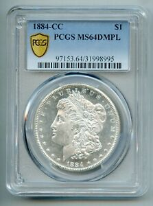 1884 CC Morgan Silver Dollar PCGS MS 64 DMPL Deep Mirror Proof Like