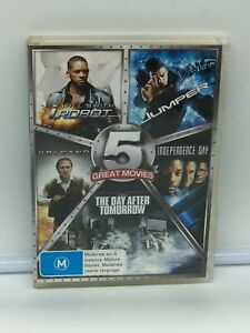 I Robot / Jumper / The Day After Tomorrow / Independence Day  Volcano DVD VGC R4