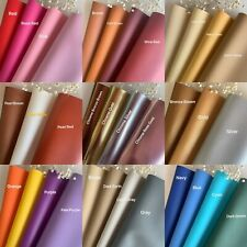 """*42 Colors* Vinyl Fabric Faux Leather Auto Upholstery 56""""Wide Continuous By Yard"""