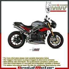 Mivv Approved Exhaust Mufflers Ghibli Steel for Triumph Speed Triple 2016 > 2018