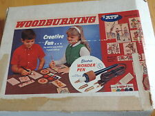 Old Woodburning Woodworking Set Wt Iron, Wood Plaques Presidents Nfl Football +