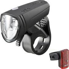 AXA Beleuchtungsset Greenline 15 Lux LED USB Scheinwerfer u. Rücklicht Fahrrad