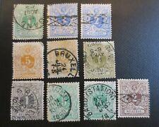 Belgium 1869-91 Uh Stamps Sc # 28-30, 49-51 & 55 w/ multiple from Quality Album