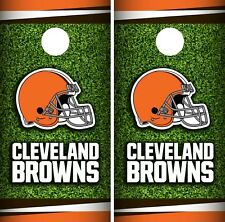 Cleveland Browns Field Cornhole Wrap Nfl Skin Game Board Set Vinyl Decal Co56