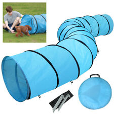 Pet Tunnel Puppy Dog Agility Training 5.5m Outdoor Run Exercise Playing Blue