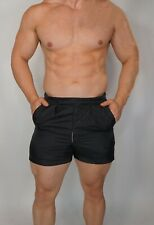 Men'S Black Nylon Soccer Sport Supply Co. Shorts 32