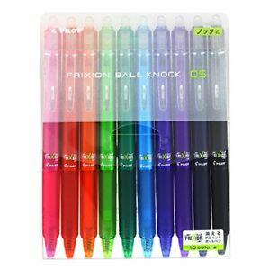 【erasable ball-point pen】Pilot - frixion ball knock 0.5 / 10 colors