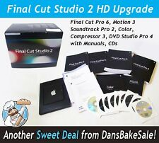 Apple Final Cut Studio 2 HD Upgrade MA888Z/A Final Cut Pro 6, Motion 3, Manuals