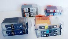 9 Canon Empty Cartridges PGI-5BK, CLI-8BK, 8C, 8Y, 8M (5 Genuine, 4 Compatible)