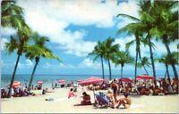 1950s Miami Beach Florida Chrome Postcard Hannau
