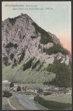 12203 Weichselboden Hotel Post mit Hoch-Türnach 1923 Bezirk Bruck-Mürzzuschlag