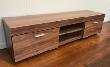 Entertainment TV Unit Cabinet 160cms Timber Look Media Unit Slimline NEW