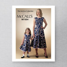 McCall's M7354 1950s Vintage Retro Re-issued Apron Dress Pattern Womens S M L XL