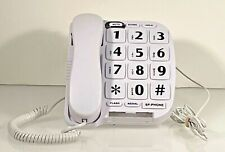 BIG LARGE NUMBER BUTTON CORDED LANDLINE TELEPHONE W/speaker and memory