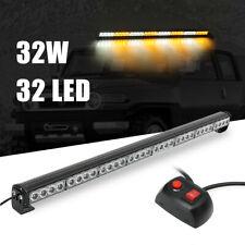 36'' 32 LED Traffic Advisor Emergency Warning Light Bar Dash Flash Strobe  -