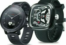 HYBRID Smart Watch Heart Rate Blood Pressure Monitor 5ATM Waterproof Sports Smar