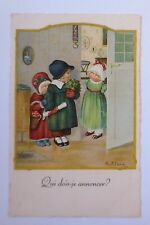 """Kinder, Korb, Pilz, Tür"" 1929, Pauli Ebner ♥ (45746)"