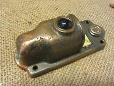 Vintage Brass Door Bell Lighted Cover w Colored Glass > Lens Antique 8643