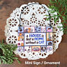 House is not a Home without a CAT Ornament / Mini Wood Sign Gift  Party Favor
