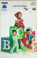 Just for Dolls Knitting Pattern Book Barbie Am Girl Beehive Susan Bates Vintage