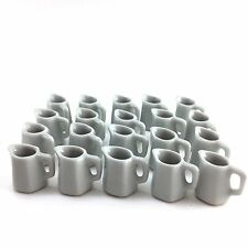 Miniature Dollhouse Supply Ceramic Pitcher Lot Of 20 White Colour Decorative1