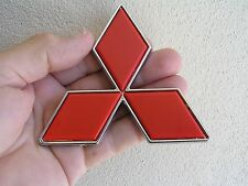 "UK ~ MITSUBISHI 100mm RED BADGE Express Van Diamond 4"" Emblem *NEW* Pajero"