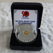 Jersey 2011 ROYAL BRITISH LEGION .999 Fine Argent Preuve £ 5 Poppy-Coffret/COA
