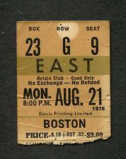 1978 Boston Concert Ticket Stub Toronto Maple Leaf Gardens Don't Look Back