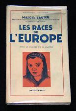 LES RACES DE L'EUROPE - ETUDE SAUTER - E.O. PAYOT PARIS 1952 PAGES NON COUPEES
