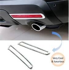 ABS Chrome Rear Tail Fog Light Lamps Cover Trim 2pcs for Ford Explorer 2011-2015