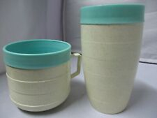 Mid Century Modern Cornish Therm-o-ware Tumbler and Coffee Cup