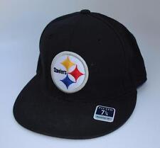 PITTSBURGH STEELERS Reebok Fitted Baseball Cap Hat Size 7 1 4 Flat Bill c0eaa3f8c