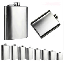 Pocket Liquor Hip Flask For Whiskey Stainless Steel Liquor Container With Cap