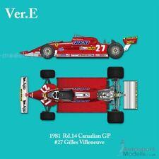 1/12 1981 Canada GP Ferrari 126Ck full détail Multi Media Model Kit MFH