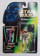 1996 Star Wars Sandtrooper POTF Hologram Green Card Collection 1 Action Figure