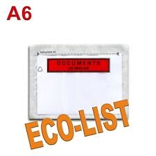"100 Pochettes ""Documents ci-inclus"" ECO-LIST A6"
